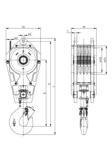 crane reeving diagram blocks