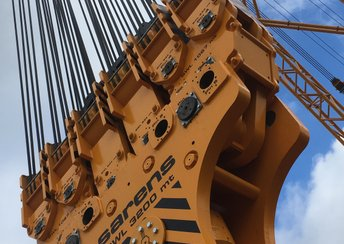Ropeblock as co-engineer for colossal Sarens crane